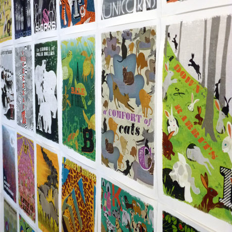 Woop Studios' collective noun prints
