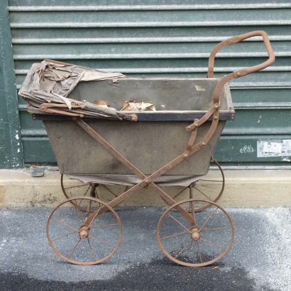 pram at paris flea market