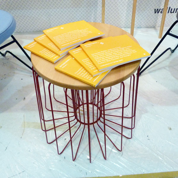 Interviews on &Then wire stool and side table