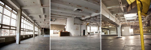Huge industrial empty space