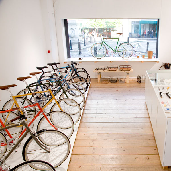 interior of tokyobike shop