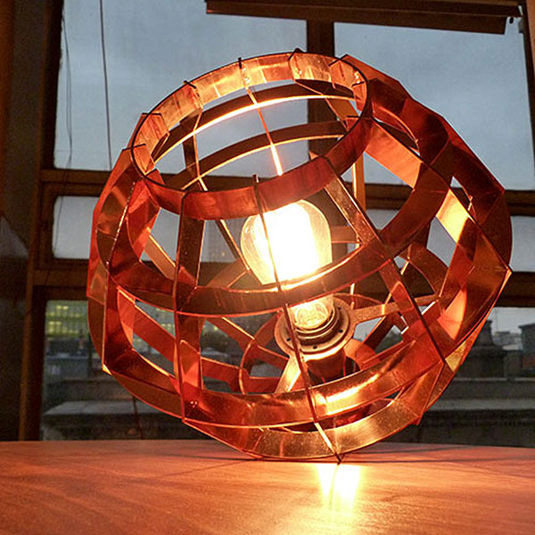 Copper cage style lightshade