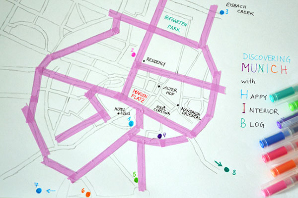 Munich Design Walk Map