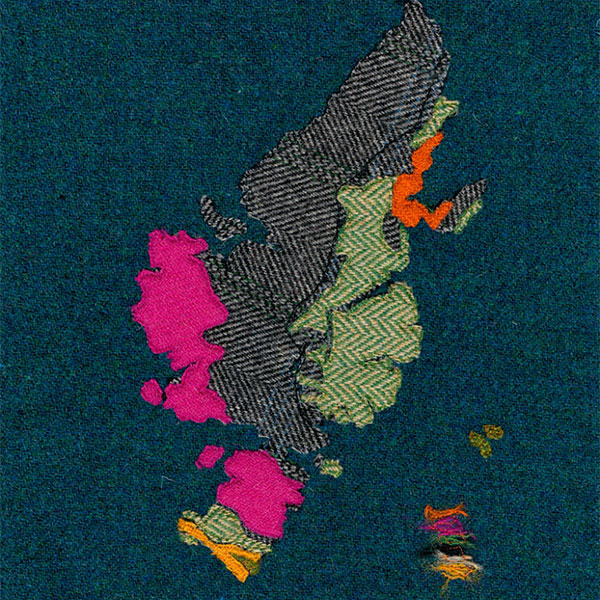 Scottish applique map