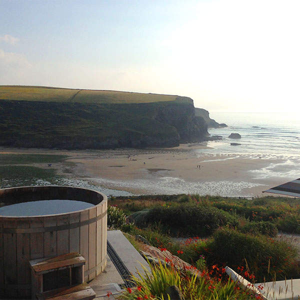 View from the Scarlet Hotel Cornwall