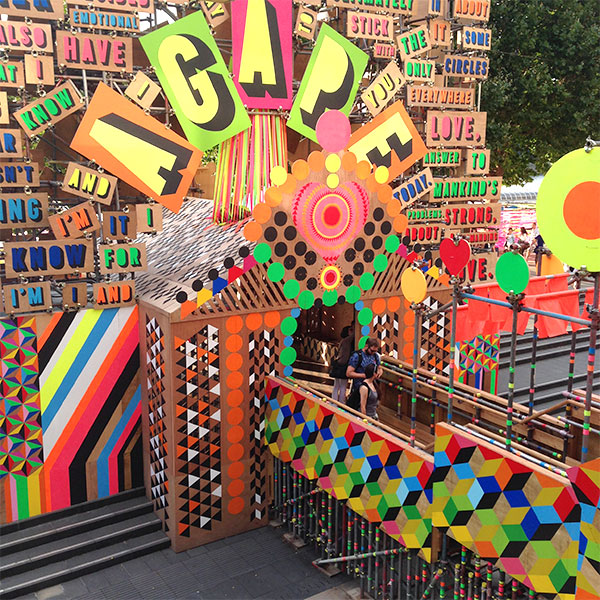 Temple of Agape Morag Myerscough and Luke Morgan Southbank London