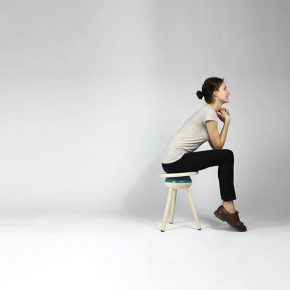 Megan Czaja's Oblio stool is designed for people who can't sit still